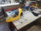 RARE VINTAGE HELICOPTERE RC KALT BARON 50 + OS 50  complet G